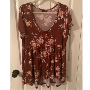Torrid Floral Button Up Top